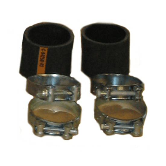 Twee sets voor de bevestiging van de buitenkachel
