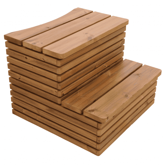 Thermowood houten hottub trap