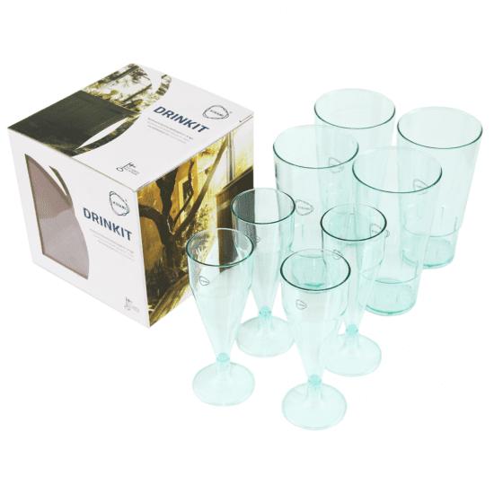 Kirami 8 glazen voor de hottub
