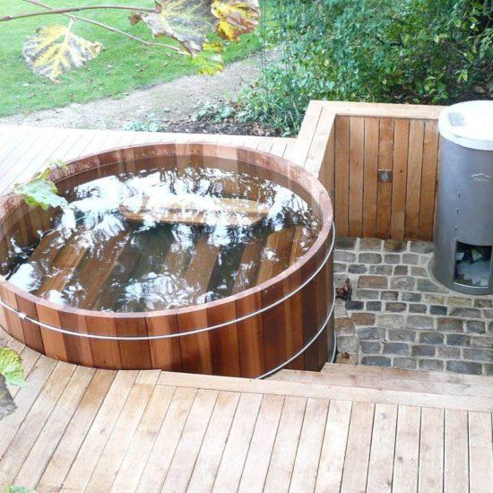 Sfeerfoto hot tub met zwembadverwarming