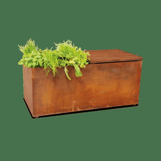 Tuinbank met kruiden