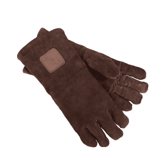 Bruine suede handschoenen