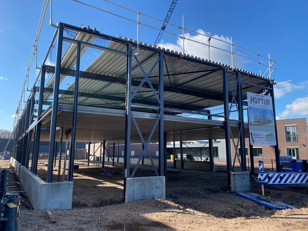 Bouw van locatie Mill op 26 februari